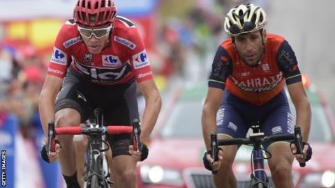 Chris Froome and Vincenzo Nibali