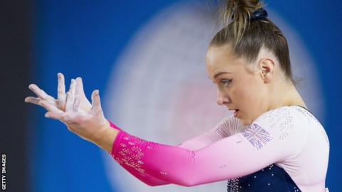 Amy Tinkler performing at the World Gymnastics Championships