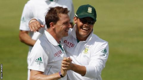 Dale Steyn (left) has played alongside Glamorgan captain Jacques Rudolph (right) for South Africa
