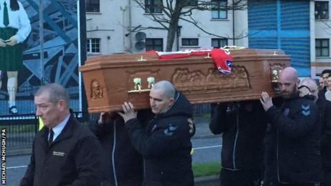 Ryan McBride's coffin