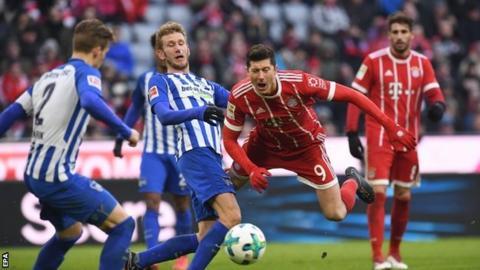 Hertha Berlin ends Bayern Munich's winning run with 0-0 draw