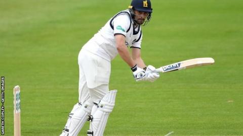 Will Rhodes' previous highest Championship score was also at Edgbaston, 79 against Warwickshire in 2015