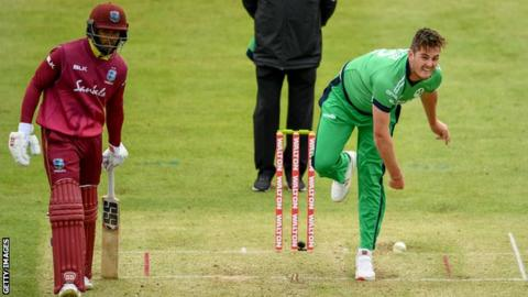 Mark Adair in action against West Indies last year