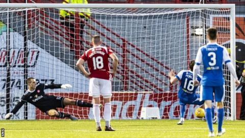David McMillan scores a penalty