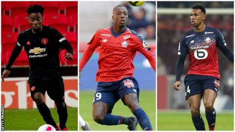 environment Split pic of Angel Gomes, Nicolas Pepe and Gabriel Magalhaes
