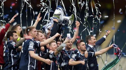 Ross County celebrate League Cup win