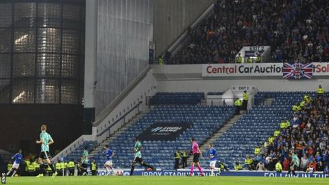 A section of Ibrox was closed for the second leg against Legia Warsaw