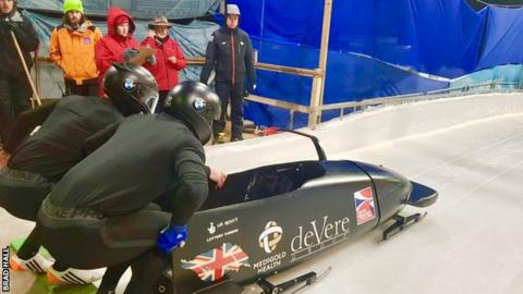 Brad Hall and Nick Gleeson in their new sled