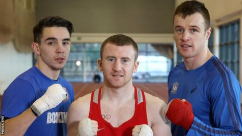 Steven Donnelly (right) will begin his career in the paid ranks at 154lbs and joins the same stable as fellow former Olympians Michael Conlan and Paddy Barnes