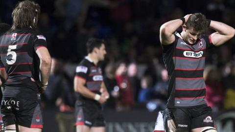 Edinburgh captain Marcus Bradbury is left distraught