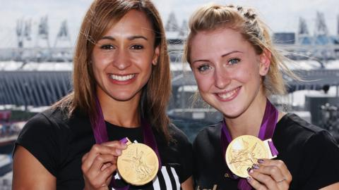 Laura Kenny and Jessica Ennis-Hill
