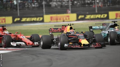 Vettel, Verstappen and Hamilton