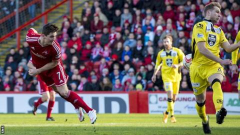 Kenny McLean has a chance for Aberdeen aganist St Mirren in 2015