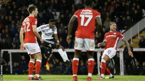 Floyd Ayite's goal was his first for Fulham since September