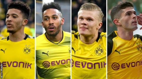 Dortmund players