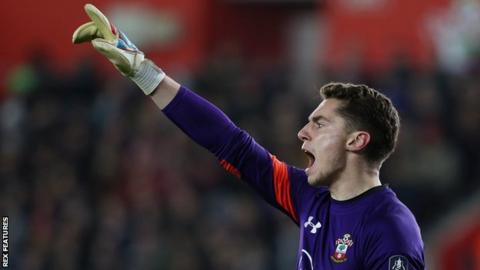 Southampton goalkeeper Harry Lewis