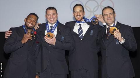 Joel Fearon, Stuart Benson, Bruce Tasker and John Jackson