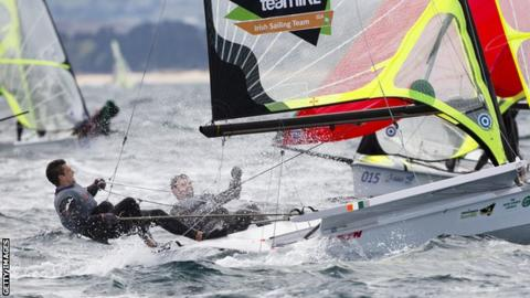 Ryan Seaton and Matt McGovern in action at the 2014 World Championships in Santander