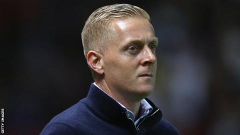 Leeds United head coach Garry Monk