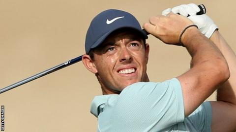 Rory McIlroy carded six birdies in his round on Thursday