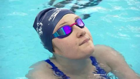 Special Olympics competitor Erin Green