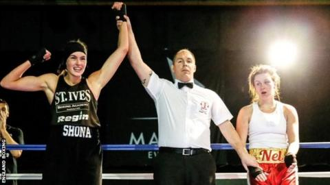 Shona Whitwell declared the winner of a bout