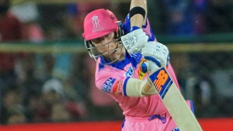 Steve Smith in action for Rajasthan Royals