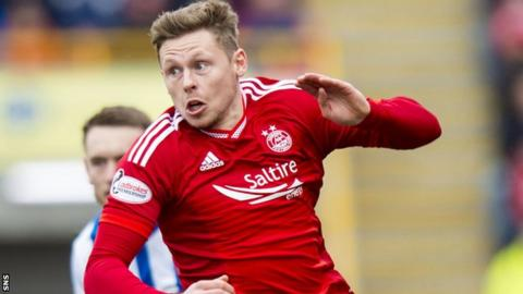 Simon Church in action for Aberdeen