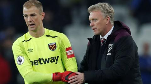 Joe Hart and David Moyes