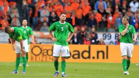 Northern Ireland were then beaten 6-0 by the Netherlands in Amsterdam in June 2012