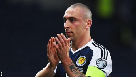 Scotland midfielder Scott Brown
