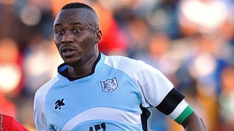 Botswana forward Joel Mogorosi