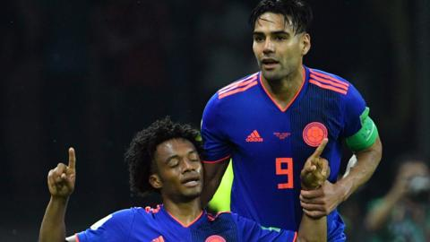 Juan Cuadrado and Radamel Falcao