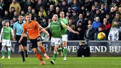 Dundee United 2-2 Hibernian: Host twice fight back from behind