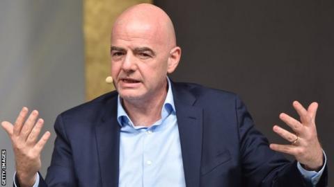 Restarting football too soon 'irresponsible' says Fifa president Gianni Infantino