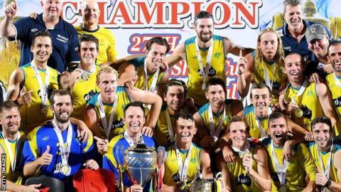 Australia celebrate winning the Sultan Azlan Shah Cup