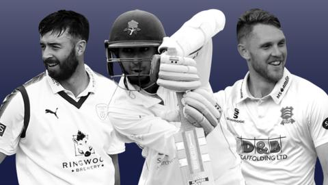 James Vince, Haseeb Hameed, and Jamie Porter