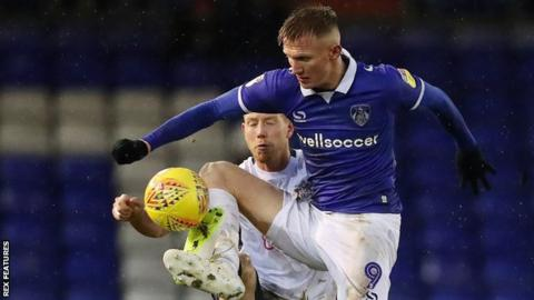 Striker Sam Surridge played part of last season on loan at Oldham Athletic