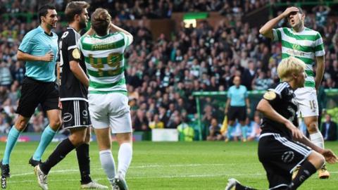 James Forrest and Tom Rogic rue a missed Celtic chance