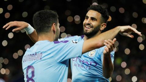 Ilkay Gundogan and Riyad Mahrez
