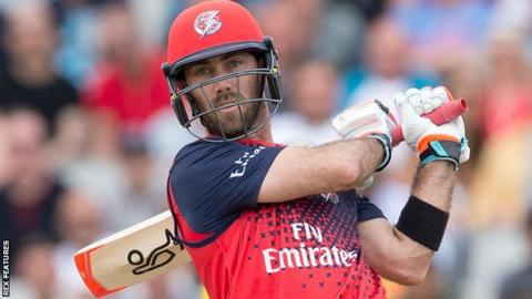 Glenn Maxwell in action for Lancashire