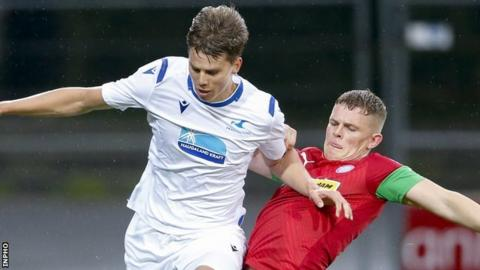 Cliftonville lose 6-1 on aggregate to FK Haugesund in the first qualifying round