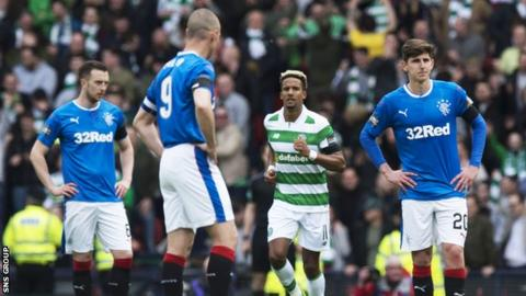 Rangers were beaten 2-0 by Celtic in Sunday's Scottish Cup semi-final