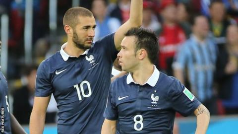 Karim Benzema and Mathieu Valbuena
