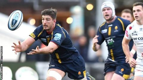 Welshman Sam Lewis has scored 11 tries in 76 appearances for Worcester Warriors