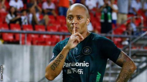South Africa striker Dino Ndlovu