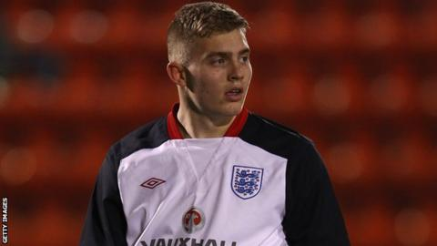 Connor Ripley has been capped by England at Under-19 level