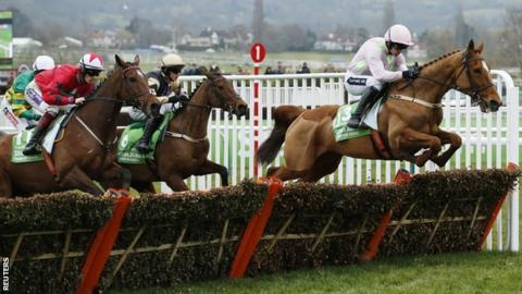 Annie Power glides over the fences at the Champion Hurdle