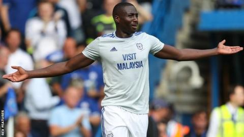 Sol Bamba in action for Cardiff City at Chelsea