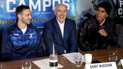 Josh Taylor, Barry McGuigan and Winston Campos